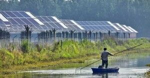 Southeast Asia Market Analysis man on boat solar panels