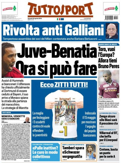 Tuttosport Benatia