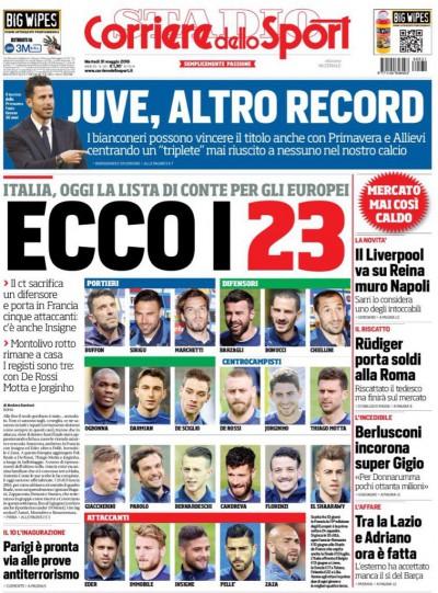 Corriere dello Sport 23 Conte