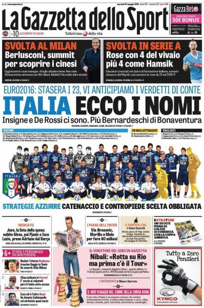 Gazzetta dello Sport 23 Conte