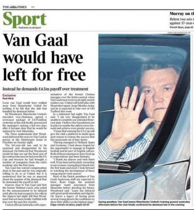 Times Van Gaal