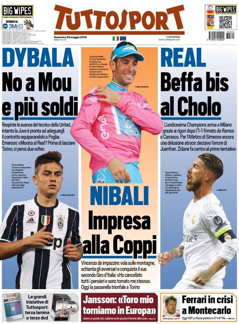 Tuttosport Nibali Real