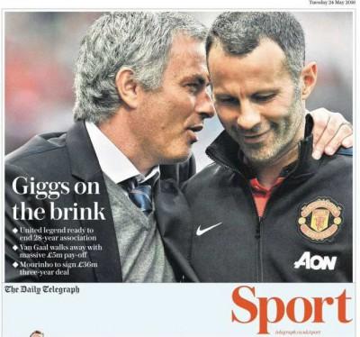 telegraph Mourinho Giggs