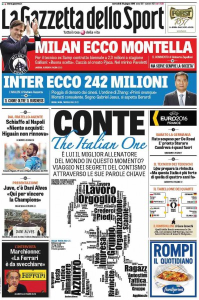 Gazzetta dello Sport Conte