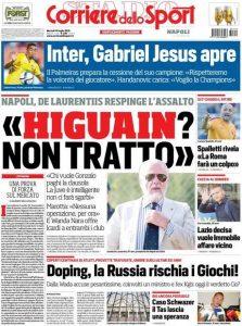 Corriere dello Sport Higuain non si vende