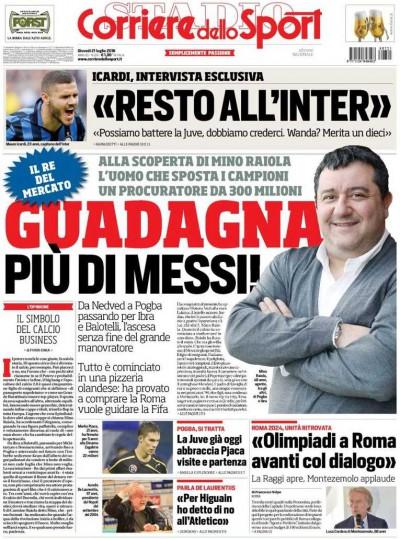 Corriere dello Sport Raiola