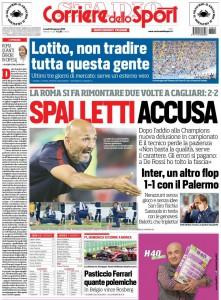 Corriere dello Sport Spalletti accusa