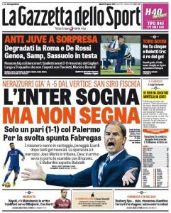 Gazzetta Inter sogna ma non segna
