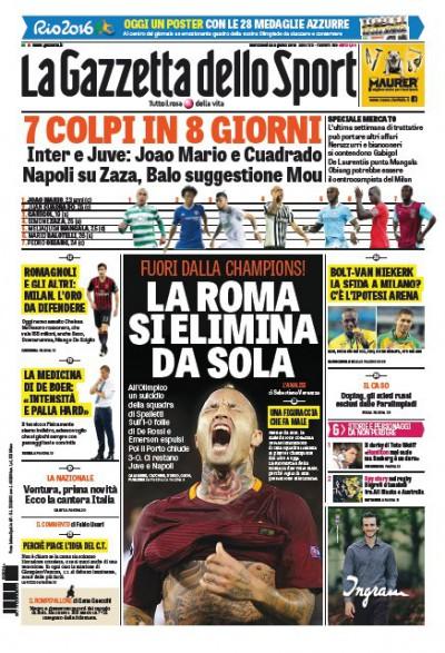 Gazzetta Roma si elimina da sola