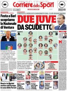 Corriere dello Sport due Juve
