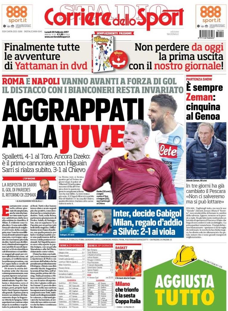 Corriere dello Sport Aggrappati