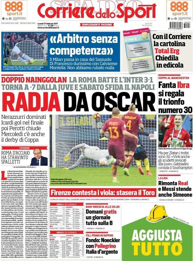 Corriere dello Sport Arbitro Radja