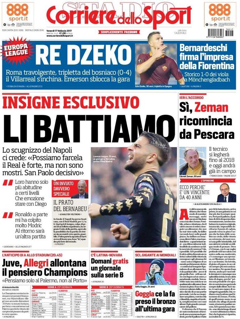Corriere dello Sport Insigne