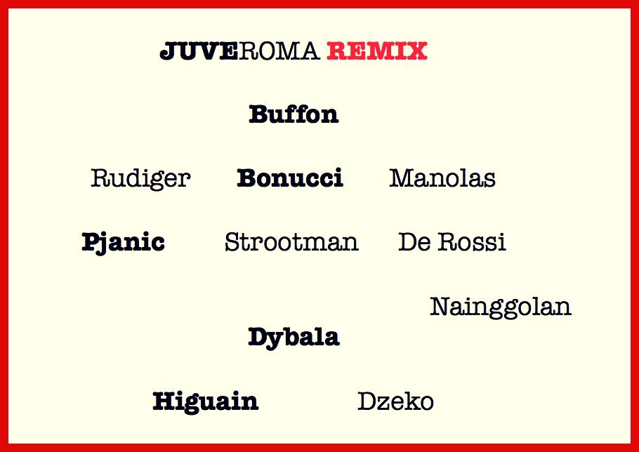 Remix Juve Roma
