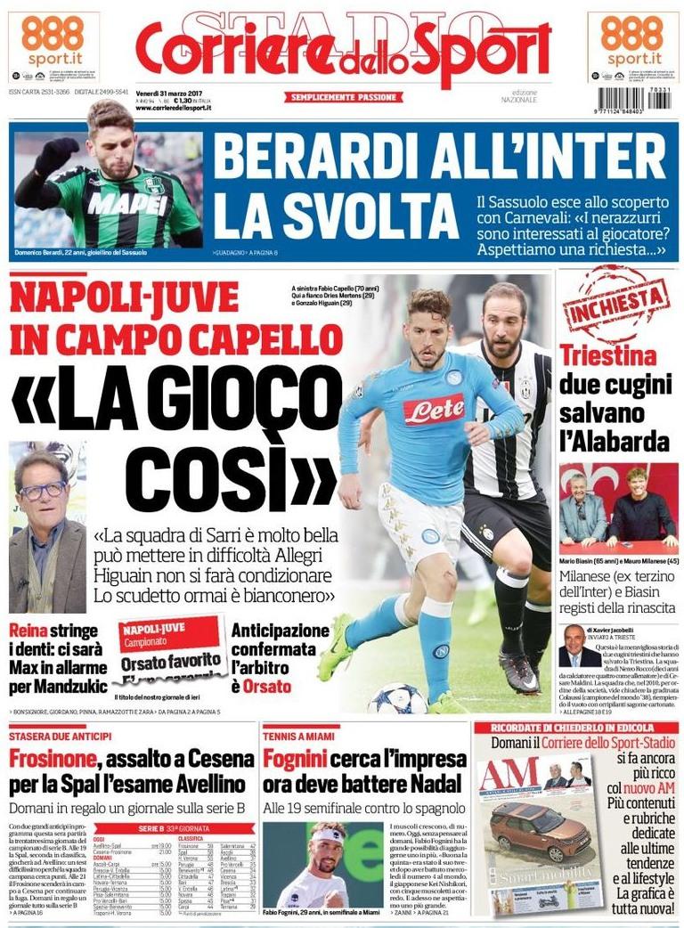 Corriere dello Sport Capello