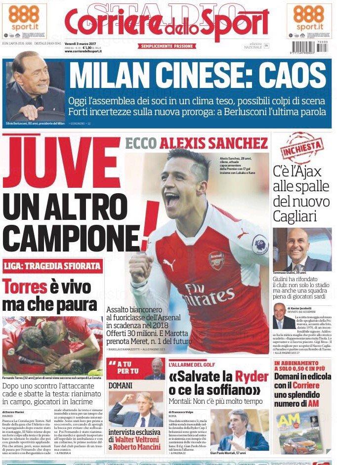 Corriere dello Sport Sanchez