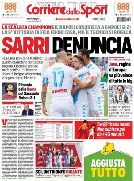 Corriere dello Sport Sarri