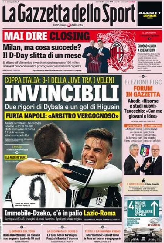 Gazzetta Sport Invincibili