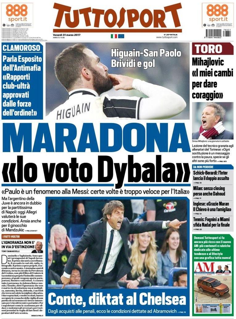 Tuttosport Maradona