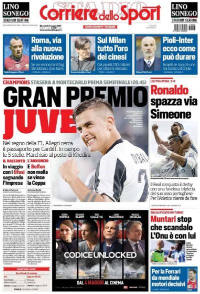 Corriere Sport Monaco Juve