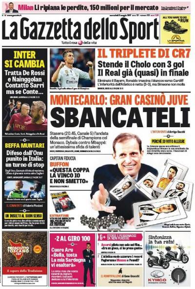 Gazzetta Monaco Juve