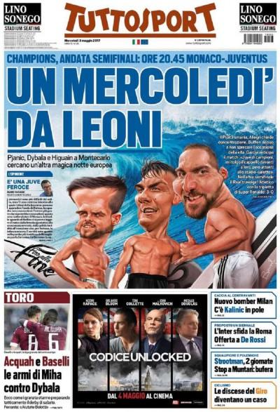 Tuttosport Monaco Juve