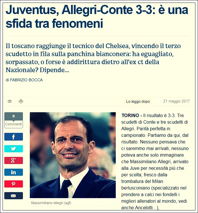 Allegri vs Conte
