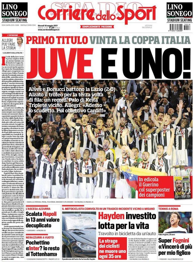 Corriere Sport Juve uno