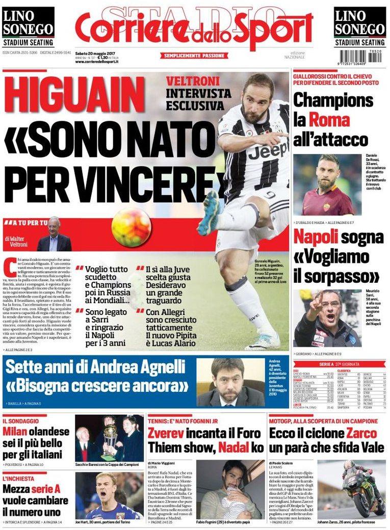 Corriere dello sport Veltroni Higuain