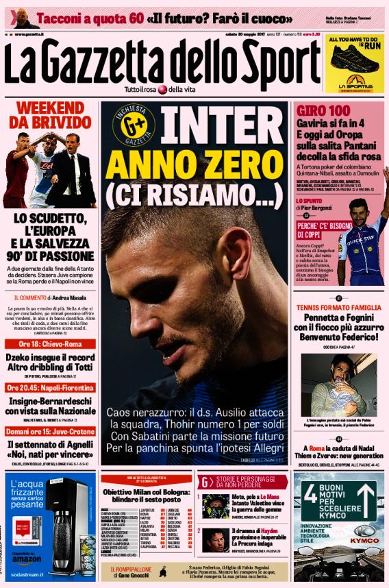 Gazzetta Inter anno zero