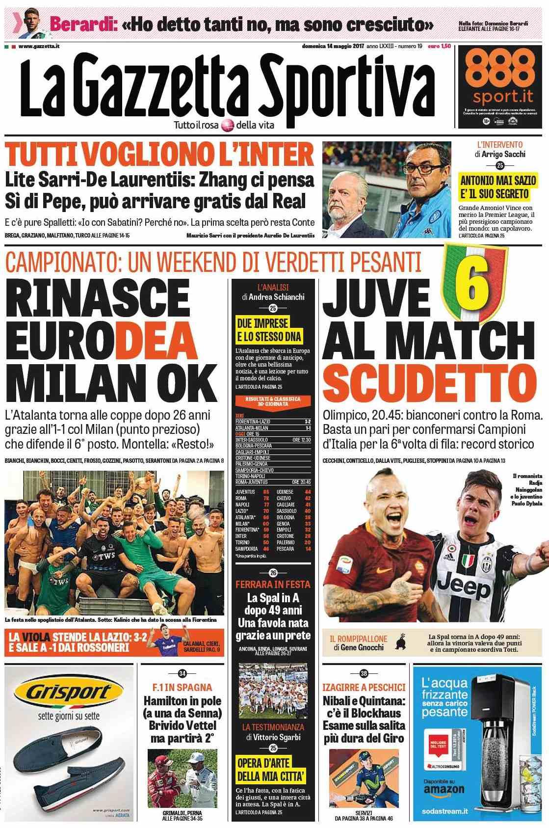 Gazzetta Juve match scudetto