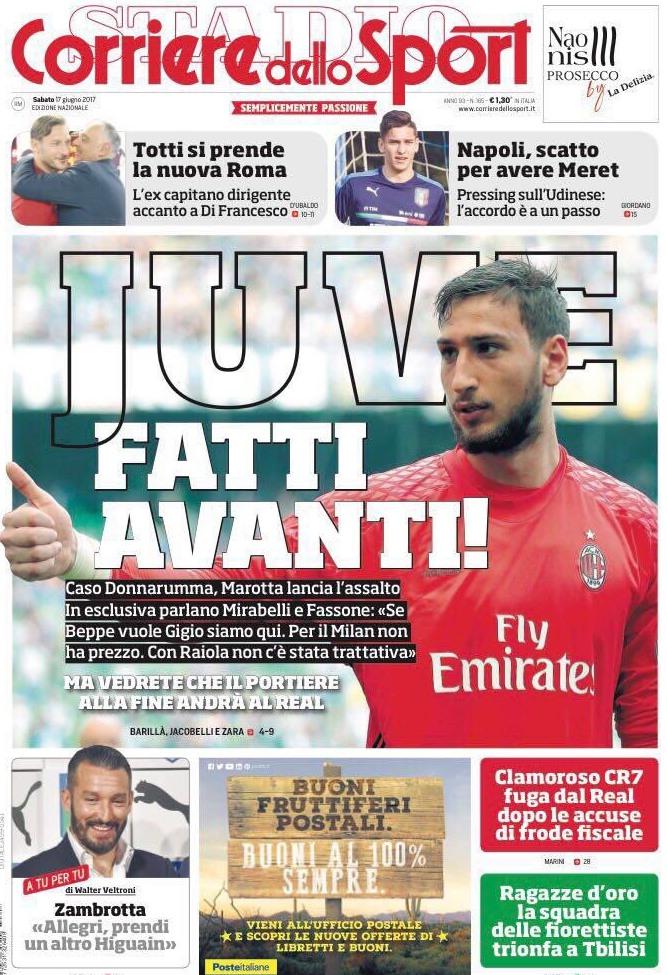 Corriere Donnarumma Juve
