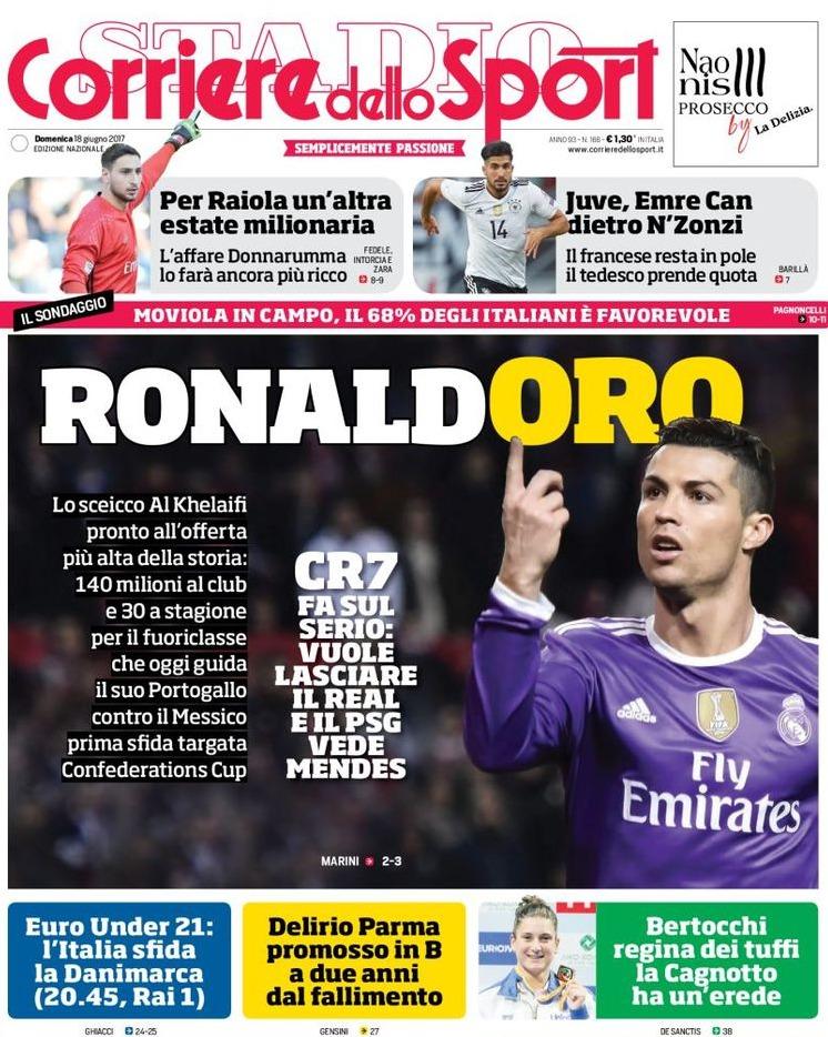 Corriere Sport Ronaldoro