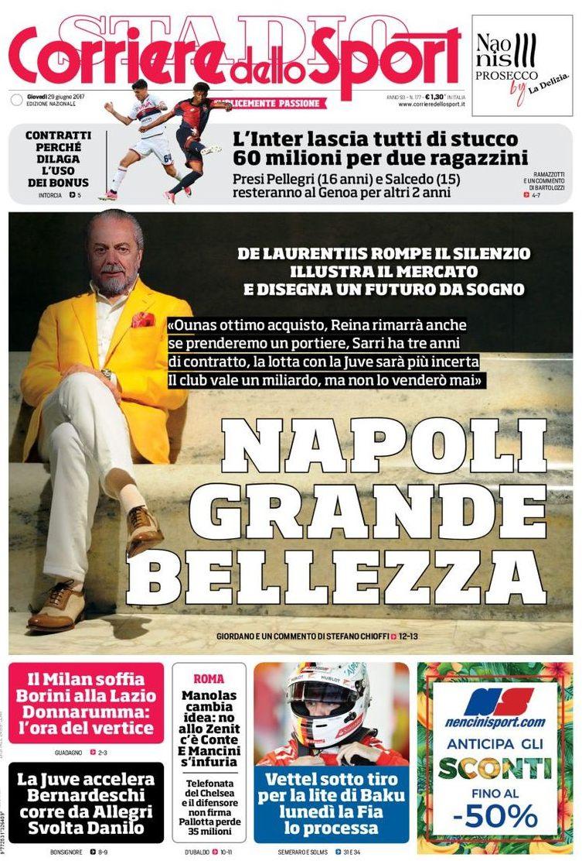 Corriere dello Sport De Laurentiis