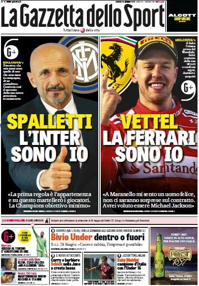 Gazzetta Spalletti Vettel