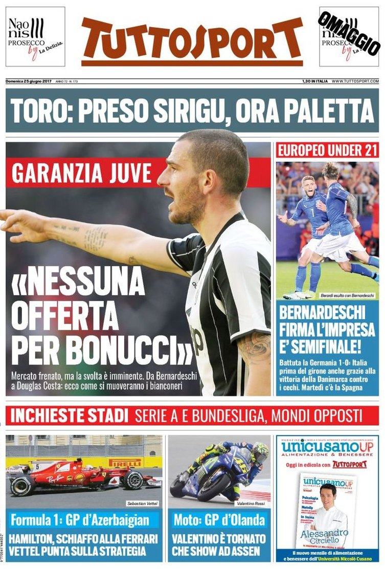 Tuttosport Bonucci