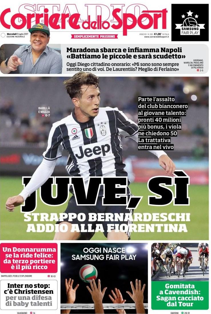 Corriere Sport Bernardeschi