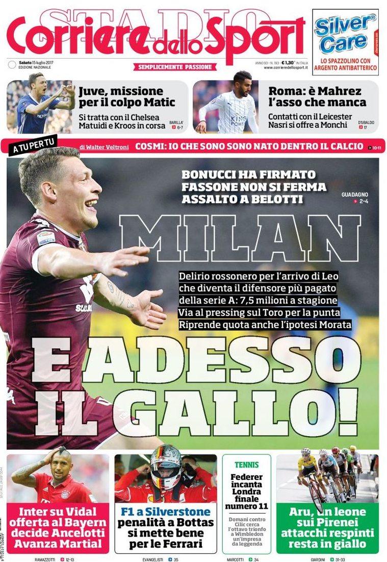 Corriere Sport Milan Belotti