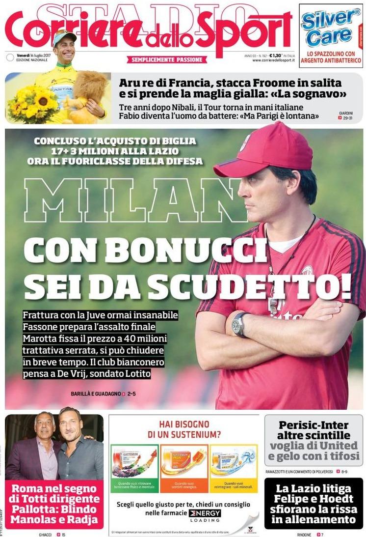 Corriere Sport Milan Scudetto