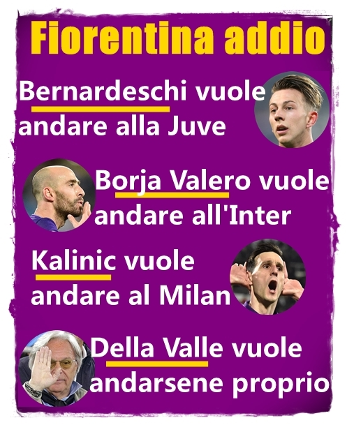 Fiorentina addio