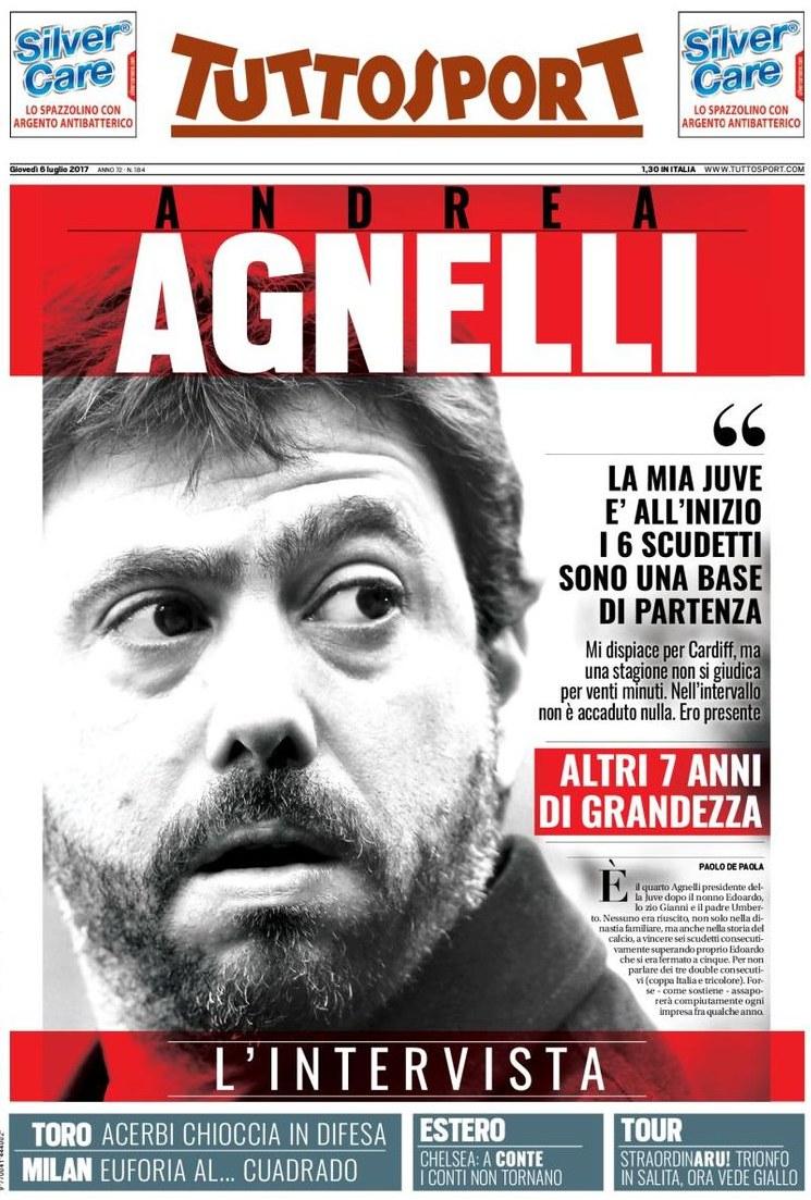 Tuttosport Agnelli