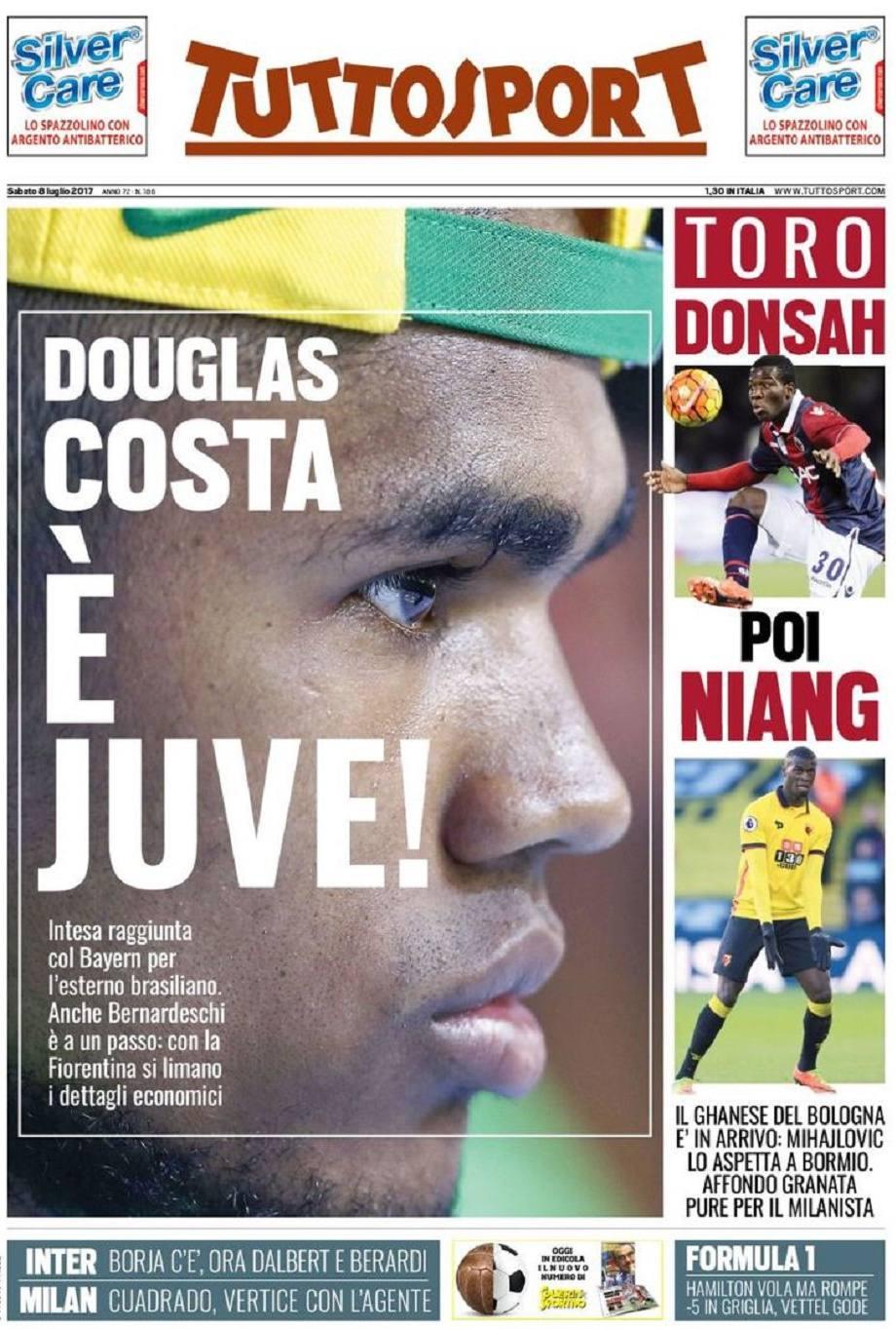 Tuttosport Douglas Costa