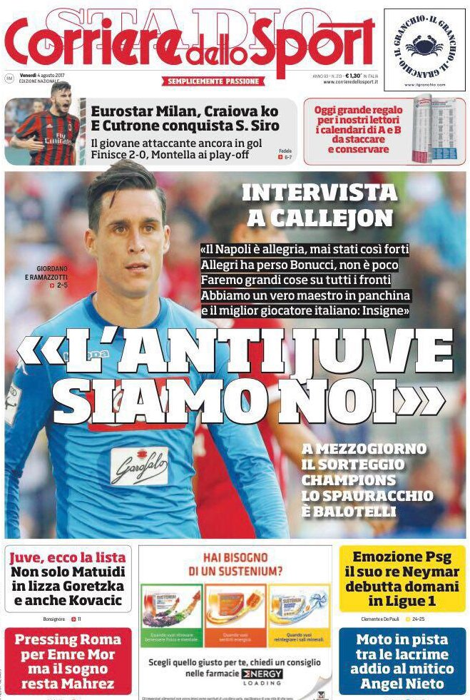 Corriere Sport Callejon