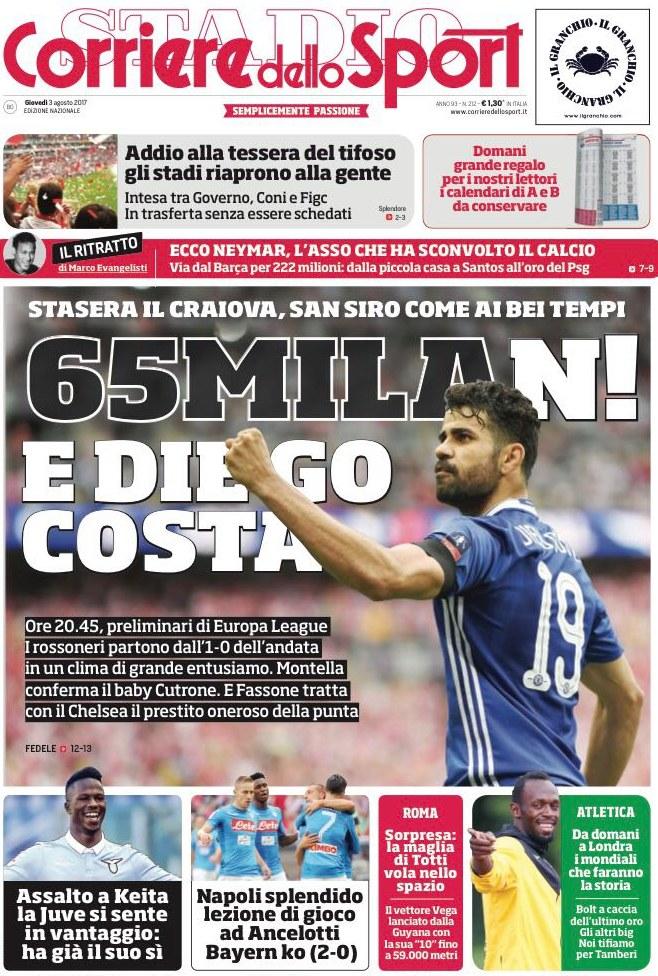 Corriere Sport Milan Costa