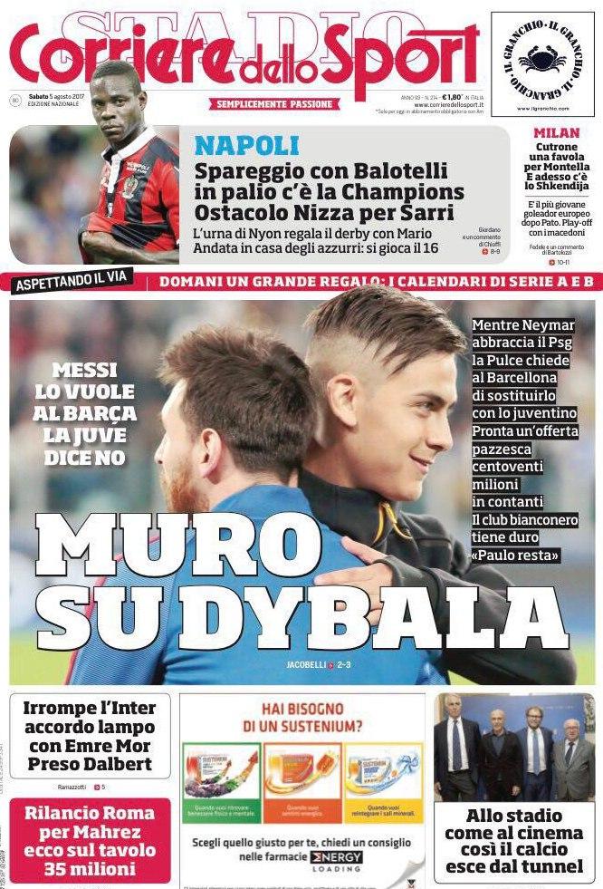 Corriere Sport Muro Dybala