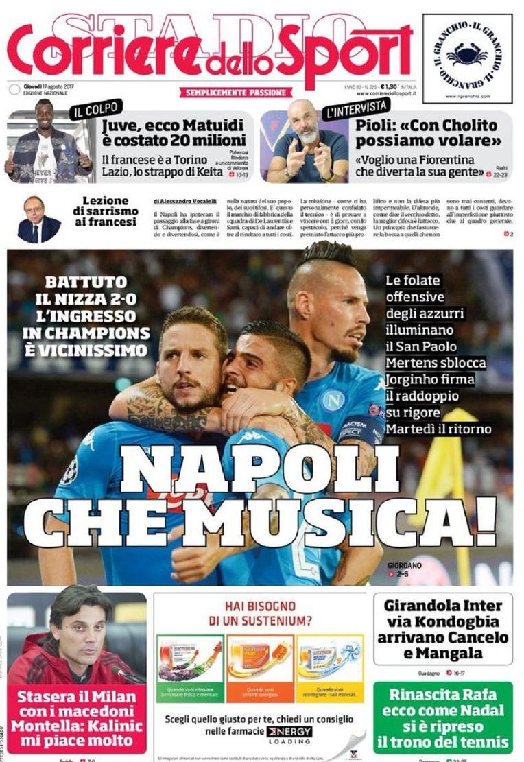 Corriere Sport Napoli Musica
