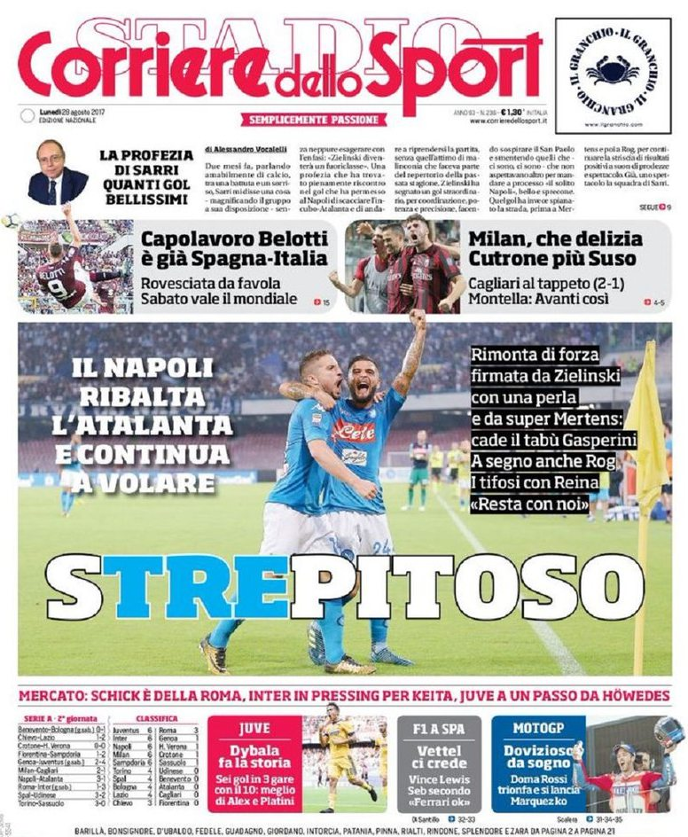 Corriere Sport Strepitoso