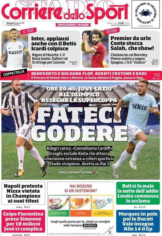 Corriere dello Sport Fateci Godere