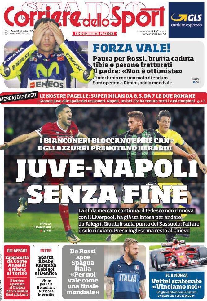 Corriere Sport Juve Napoli
