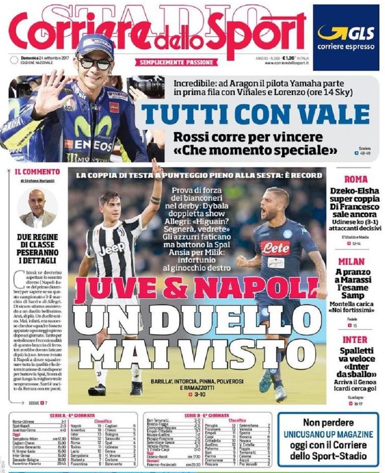 Corriere dello Sport Juve e Napoli